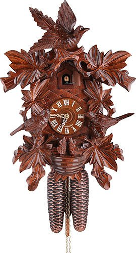 German Cuckoo Clock 8-day-movement Carved-Style 16.00 inch - Authentic black forest cuckoo clock by ()