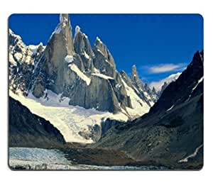 Snowy Mountains Landscapes Nature Scenery Mouse Pads Customized Made to Order Support Ready 9 7/8 Inch (250mm) X 7 7/8 Inch (200mm) X 1/16 Inch (2mm) High Quality Eco Friendly Cloth with Neoprene Rubber MSD Mouse Pad Desktop Mousepad Laptop Mousepads Comfortable Computer Mouse Mat Cute Gaming Mouse pad