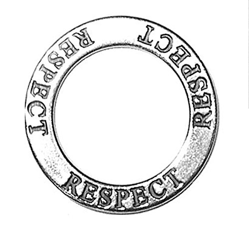 925 Sterling Silver Affirmation Circles Respect Charm Pendant Admire