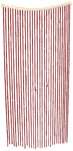Island Dogs Bamboo Beaded Door Curtain - 3ft x 6ft - Assorted Colors -