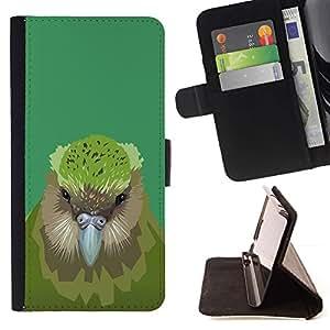 Momo Phone Case / Flip Funda de Cuero Case Cover - Pájaro del kiwi;;;;;;;; - HTC One M7