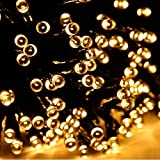 Sogrand Solar Fairy String Lights Outdoor 200 Warm White LED Garden Decorations Home Decor Light Deal of The Day Prime Today Decorative Landscape Lamp Waterproof for Outside Party Yard Tree