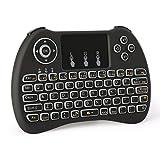 Wireless Keyboard,LESHP H9 Mini 2.4G Wireless Touchpad Keyboard Mouse Combo with Backlight