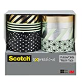 scotch expression tape dispenser - Scotch Expressions Washi Tape Multi Pack, 8 rolls/pk, Mint, Black and Metallic Dots and Stripes Collection (C1017-8-P1)