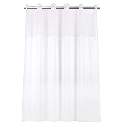 Amazon YQN Hookless Shower Curtain With Magnet 708 X 74 Inch