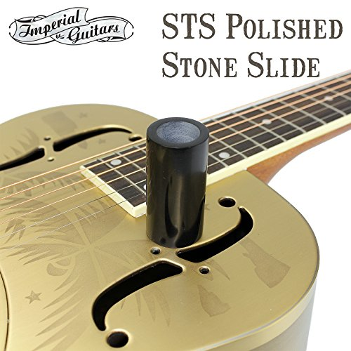 (Imperial Valley Blackstone STS Polished Stone Guitar Slide Made From Real Stone)