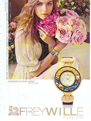 "Print Ad: 2014 Frey Wille Hommage à Claude Monet Orangerie ""Pure Art"""