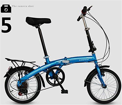 折りたたみ自転車 16インチ マウンテンバイク MTB おりたたみ自転車 折畳自転車W468 B00QA16LZG ブルー ブルー