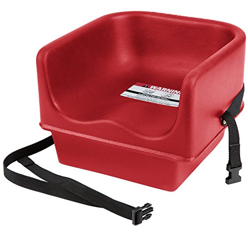 (Cambro 100BCS Hot Red Single Seat Booster Chair with Strap)