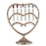 Metal Jewelry Display 58 Holes Earrings Organizer Jewelry Holder Stand Bronze