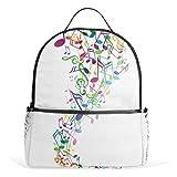 JSTEL Music Note School Backpacks for Boys Girls Bookbag