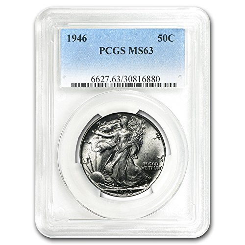 1940-1947 Walking Liberty Half-Dollar MS-63 PCGS (Random) Silver MS-63 PCGS