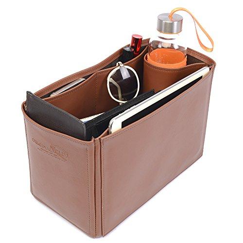 - Birkin 40 Deluxe Leather Handbag Organizer in Brown Color, Leather bag insert for Hermes Birkin 40, Express Shipping