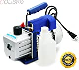 COLIBROX--4 CFM Rotary Vane Deep Vacuum Pump 1/3HP HVAC AC Air Tool R410a R134 r134a. Exhaust Port with Exhaust Cap. Direct Drive Motor Allowing