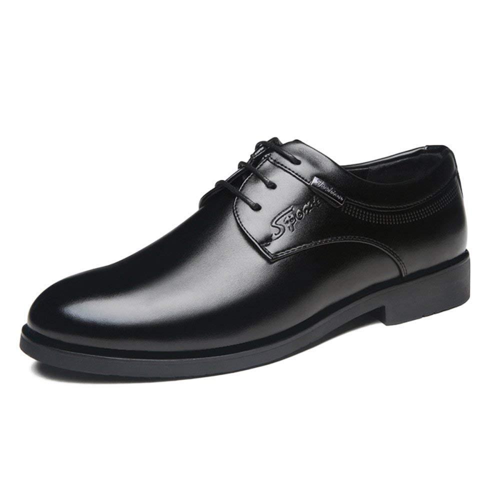 Willsego Japanische Herren Kleid Schuhe Geschäft Schuhe Freizeitschuhe British Herrenschuhe Studio Belt Oxford Leder (Farbe : Schwarz, Größe : 44)