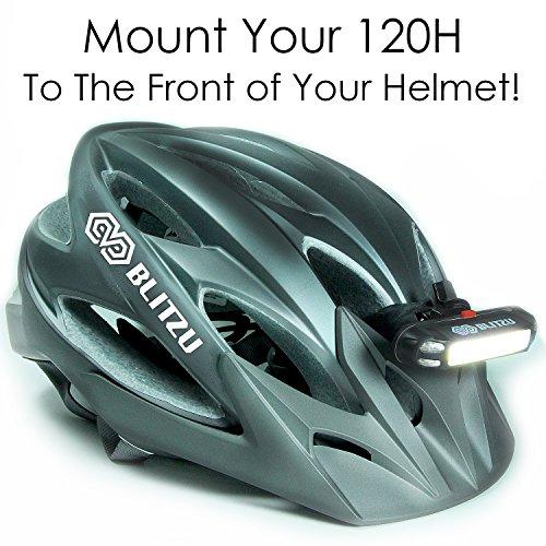 Bike Helmet Light >> New Generation Blitzu 120h Usb Rechargeable Bike Headlight Bicycle