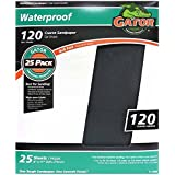 """Gator Finishing 4244 120 Grit Silicon Carbide Sanding Sheets (25 Pack), 9"""" x 11"""""""