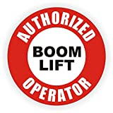 Authorized Boom Lift Operator Hard Hat Sticker / Helmet Decal Label Lunch Tool Box