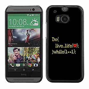 Planetar® ( Live Life ) Fundas Cover Cubre Hard Case Cover All New HTC One (M8)