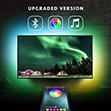 6.5ft Backlight Light Strip Kit for 24 -60 For TV Mirror PC APP Control Sync to Music Bias Lighting 5050 RGB Waterproof IP65 USB LED Strip Lights Compatible with Android IOS 2019 Upgraded
