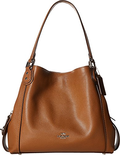 Coach Women's Edie 31 Shoulder Bag, Silver, Saddle, OS by Coach