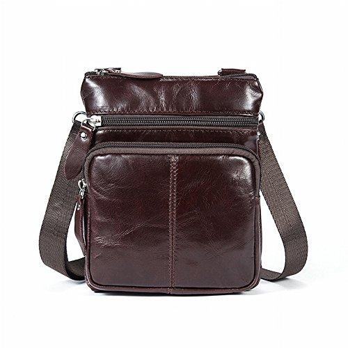 5cbc69cdda44e ... Herren Jack-Top Leder Schultertasche Reißverschluss Messenger Bag