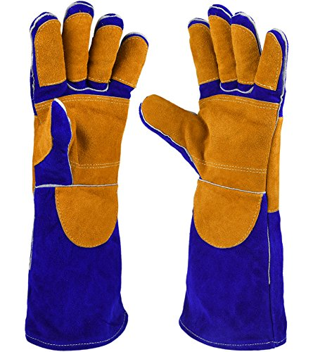 Why Choose NKTM Leather Welding Gloves EXTREME HEAT RESISTANT & WEAR RESISTANT - For Tig Welders/Mig...