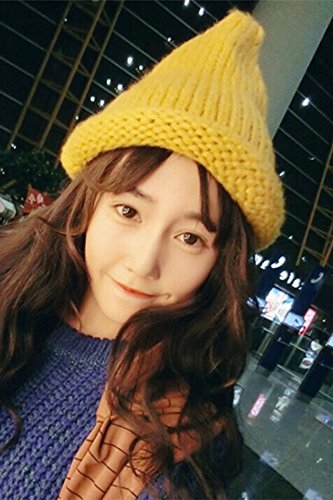 Generic autumn winter _Korean_style_of new_solid_color_roll_edge_an_Knitting hat men women_couple_warm_wild_knitting hat tide_college. -
