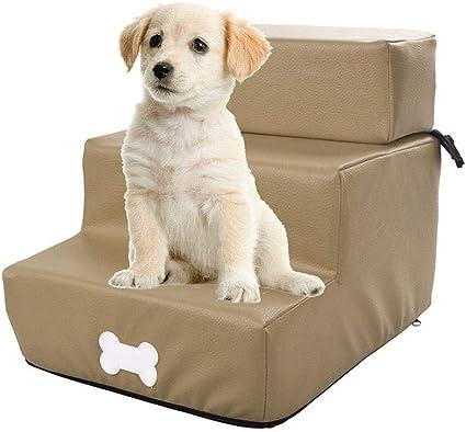 soundwinds Scala per Cani a 3 gradini Scale per Cani Rimovibili Scala Antiscivolo Rimovibile per Animali Domestici Divano Letto Scaletta per Cani di Piccola Taglia Cuccioli di Gatto