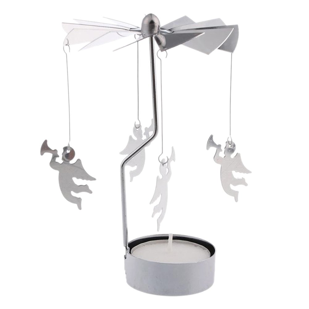Ange OuYou Support Porte-Bougie Bougeoir Chandelier Carrousel Decoration No/ël Maison Mariage