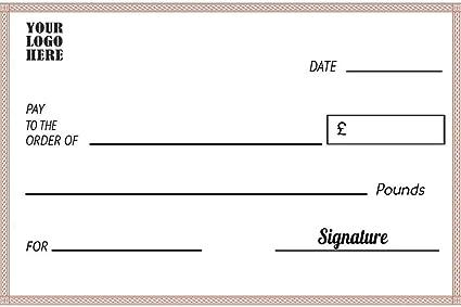 Cheques falsos gigantes personalizados, hechos de plástico ...