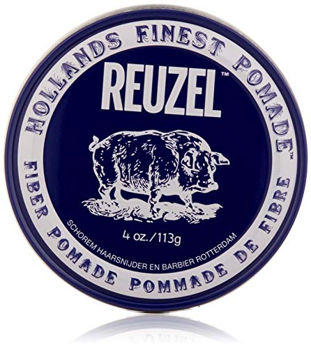 (Reuzel Natural Finish Fiber Pomade, 4 oz)