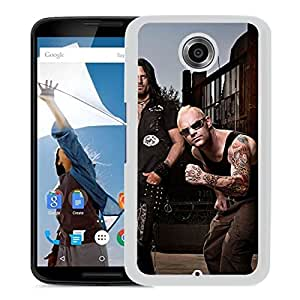 Beautiful Designed Cover Case With Five Finger Death Punch Tattoo Iroquois Beard Dreadlocks (2) For Google Nexus 6 Phone Case