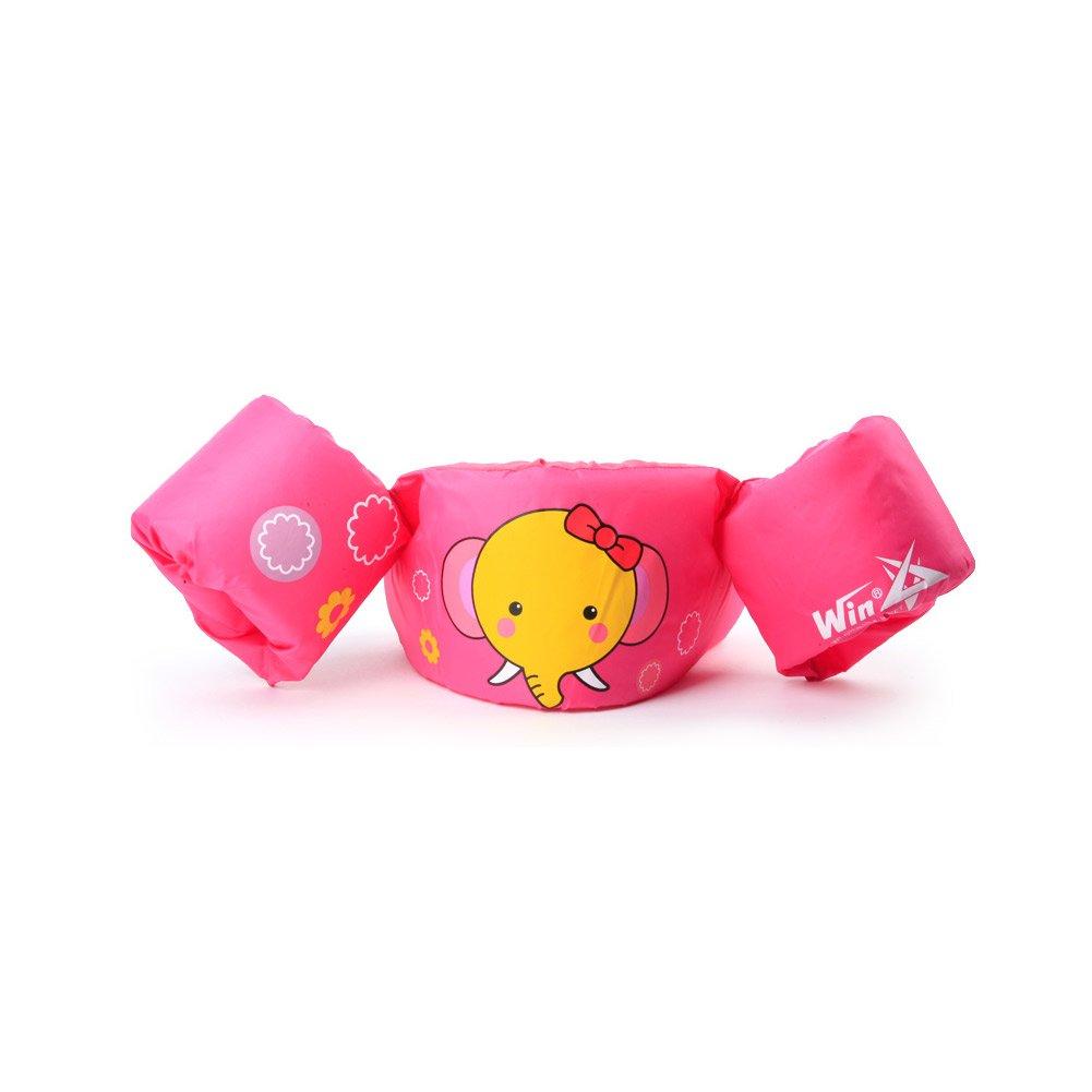 WinスターKids子供Puddle Jumperライフジャケット水泳ベストSwim Arm BandsトレーナーFloatベスト30 – 50lbs  Pink Elephant B07CZ3692T