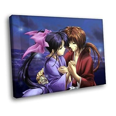 HJ0747 Rurouni Kenshin Kamiya Kaoru Anime Art 16x12 FRAMED CANVAS PRINT