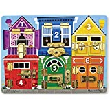 "Melissa & Doug Wooden Latches Board, Developmental Toy, Helps Develop Fine Motor Skills, Smooth-Sanded Wood, 15.5"" H x 11.5"" W x 1.25"" L"