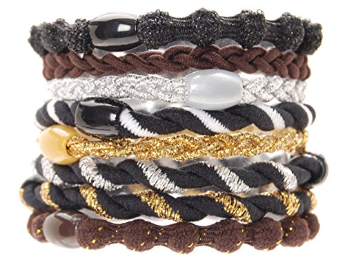 L. Erickson Party Ponytail Holder 8-Pack - Neutral Combo