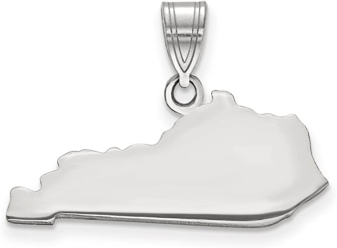 925 Sterling Silver NM State Shaped Pendant Bail Only