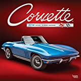 Corvette 2019 12 x 12 Inch Monthly Square Wall Calendar with Foil Stamped Cover, Chevrolet Motor Muscle Car (Multilingual Edition)