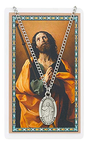 Sports Prayer Card - Oval St. James the Greater Medal with Prayer Card