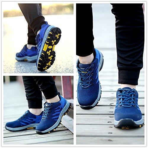 Punta L'estate Sneaker Antinfortunistiche In Per Acciaio Da Uomo Leggere Donna Blu Lavoro Scarpe All'aperto Cantiere Con UF4R0cXz