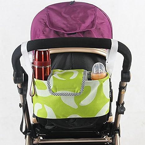Organizador de Cochecito de Bebé, Fontee Baby Moda Impermeable Bolso de cochecito Universal multifuncional Buggy