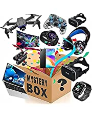 Mystery Box Electronic Lucky Boxes,Birthday Surprise Box,Interesting and Emocionante Lucky Box Such As Drones,Smart Relógios,Gamepads E Mais Mystery Boxes Aleatórios (1-4 Produtos)