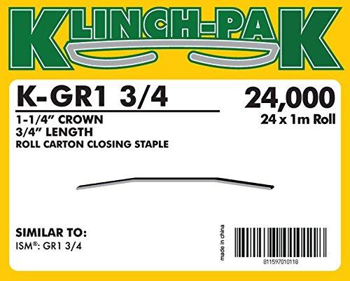 K-GR1-3/4, GR1 Roll Staple (1,000 Staples Per Roll) (24 Rolls Per Case) - AXXIS-K-GR1-3/4