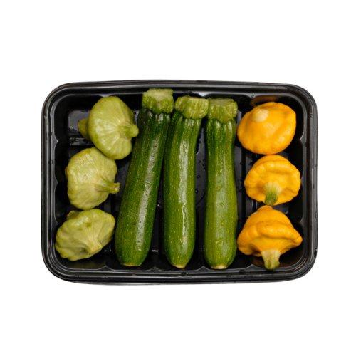 Assorted Yellow & Green Summer Baby Squash - Avg 5 Lb Case