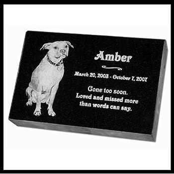 Amazon Com Personalized Custom Engraved Granite Pet