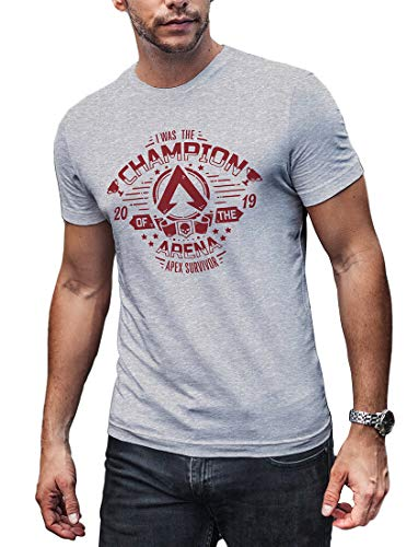 (LeRage Champion of The Arena Shirt Video Game Gift Compatible with Apex Legends Men's X-Large)
