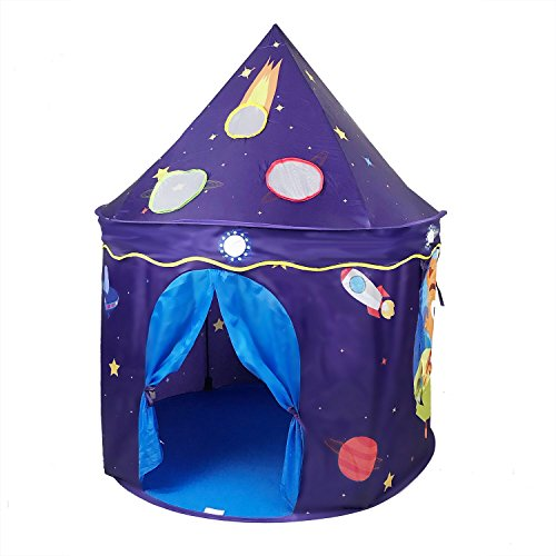 ALPIKA Space Castle Play Tent Indoor Outdoor Kids Playhouse for Children Gift with Carrying Case
