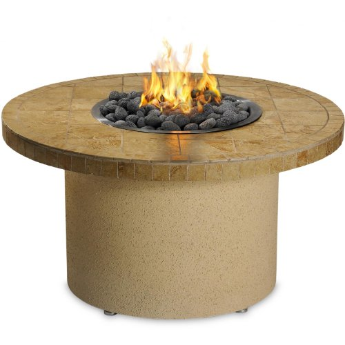 Sedona by Lynx LP Round Ice N' Fire Pit, 44-Inch, Sandalwood