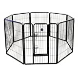 Go Pet Club 40-Inch Heavy Duty Pet Play and Exercise Pen with 8